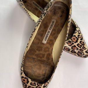 Manolo Blahnik leopard print flats